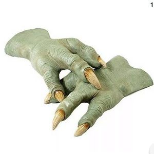 🆕 YODA HANDS Adult Costume Star Wars Latex Gloves